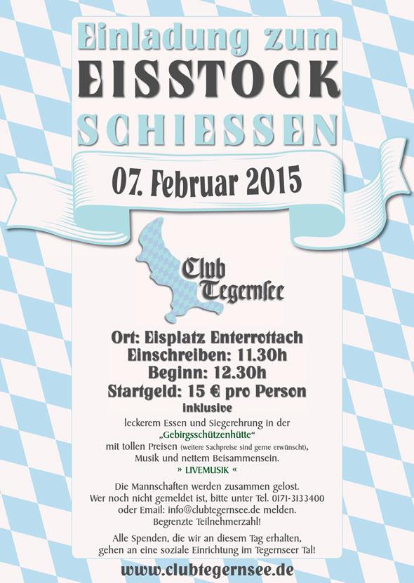 Einladung Eisstockschießen 2015