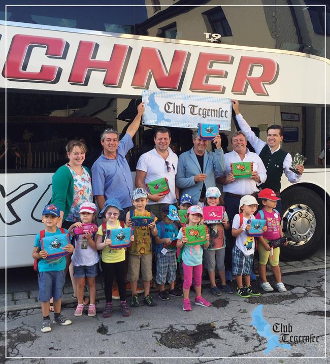 Auf dem Foto vlnr.: Michaela Griemert (Stellv. Leitung Villa Kunterbunt), Tiho Saric, Holger Düker, Markus Greger, Andreas Scherzer, Thomas Köhler (alle Club Tegernsee)